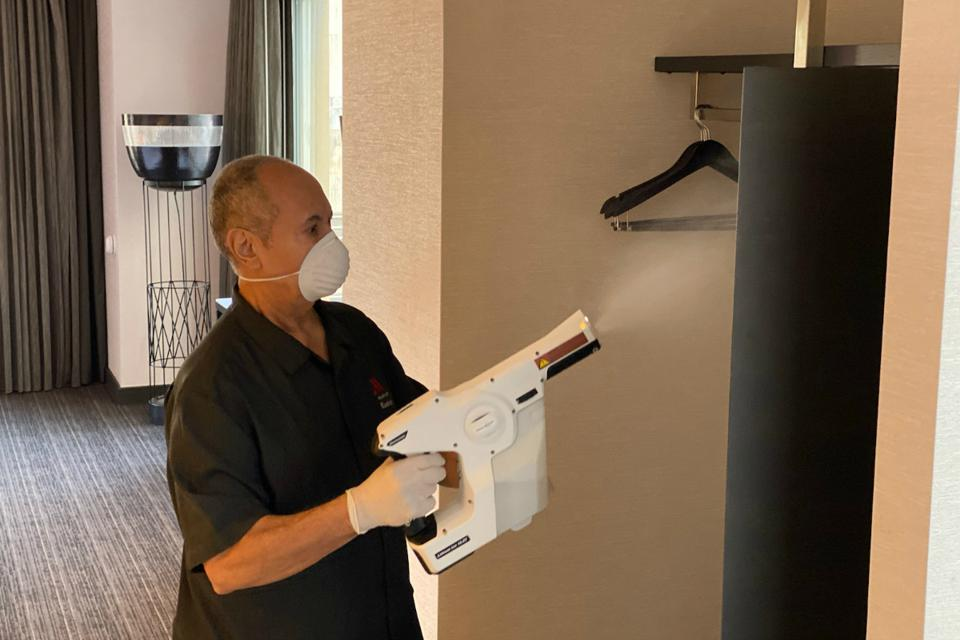 Marriott Rolls Out 'Hospital-Grade Disinfectant' In Hotels For Next-Level Cleanliness