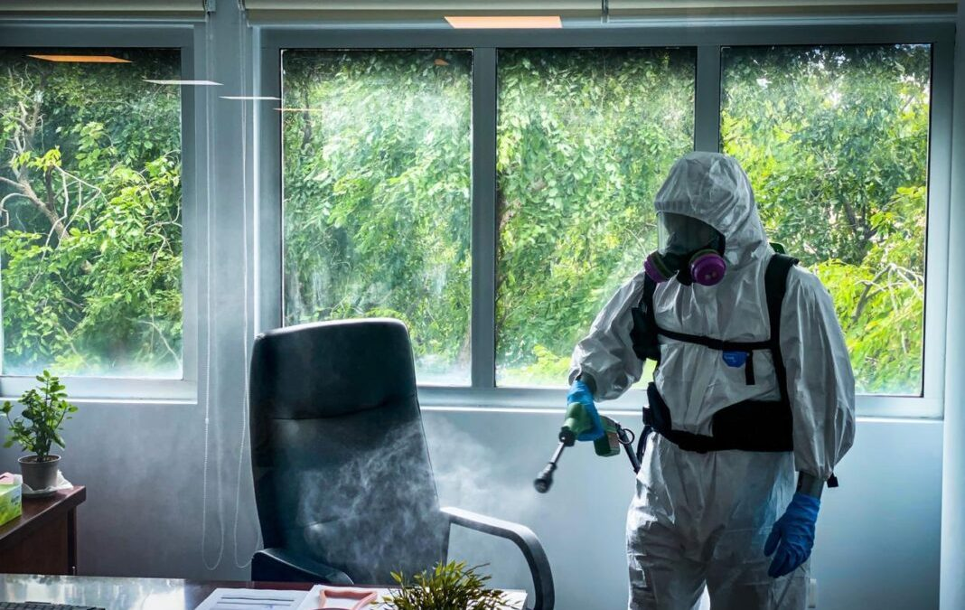 Electrostatic sprayers used to disinfect homes and businesses during the pandemic